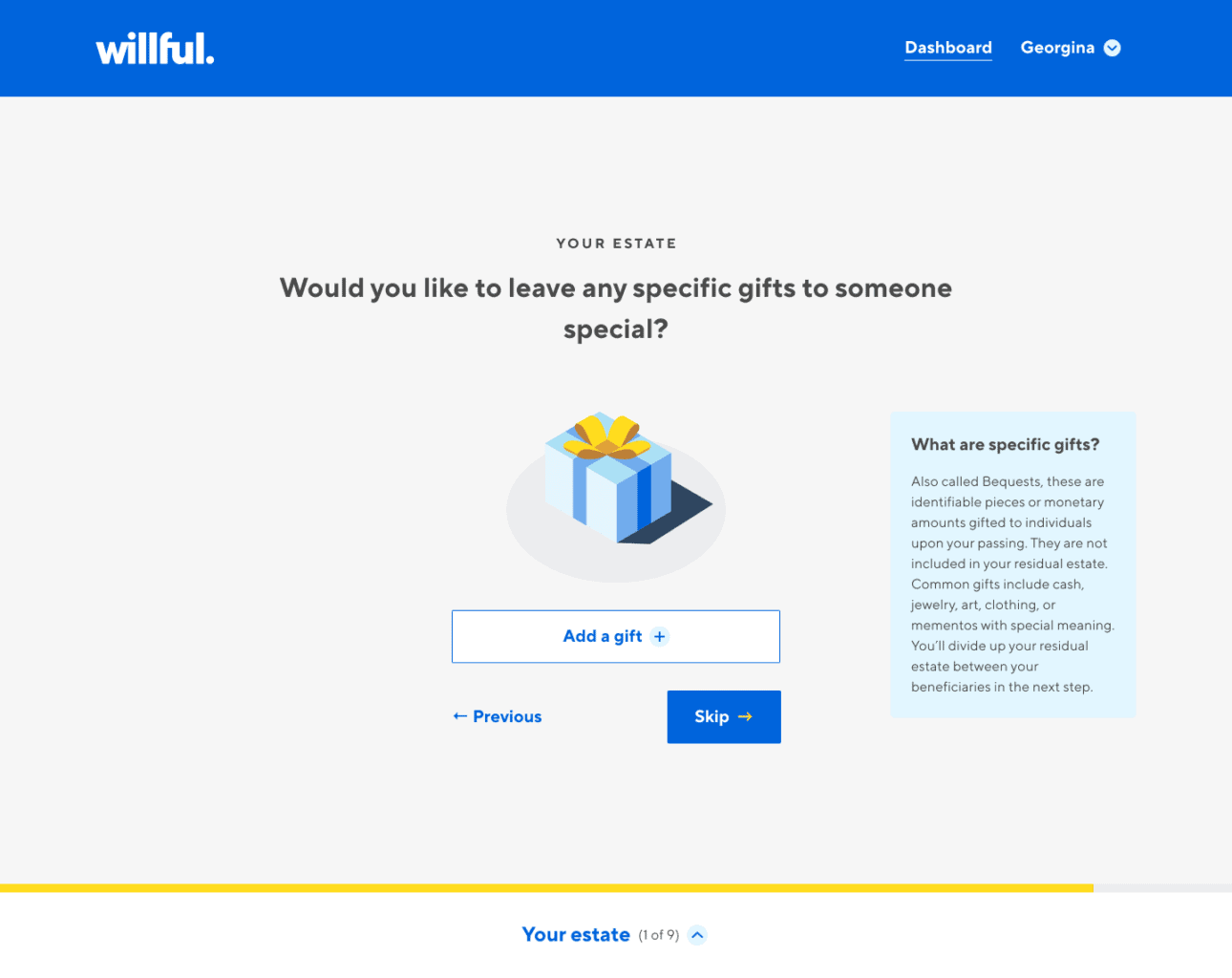 willful review leave gift