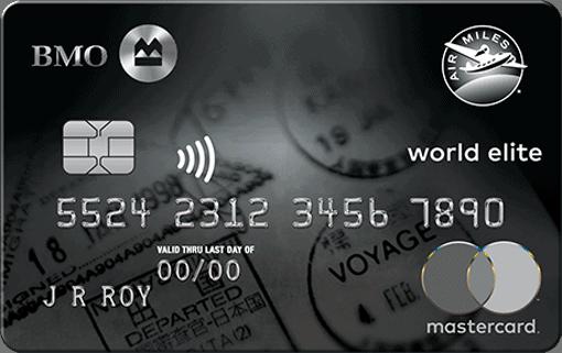 bmo air miles world elite mastercard