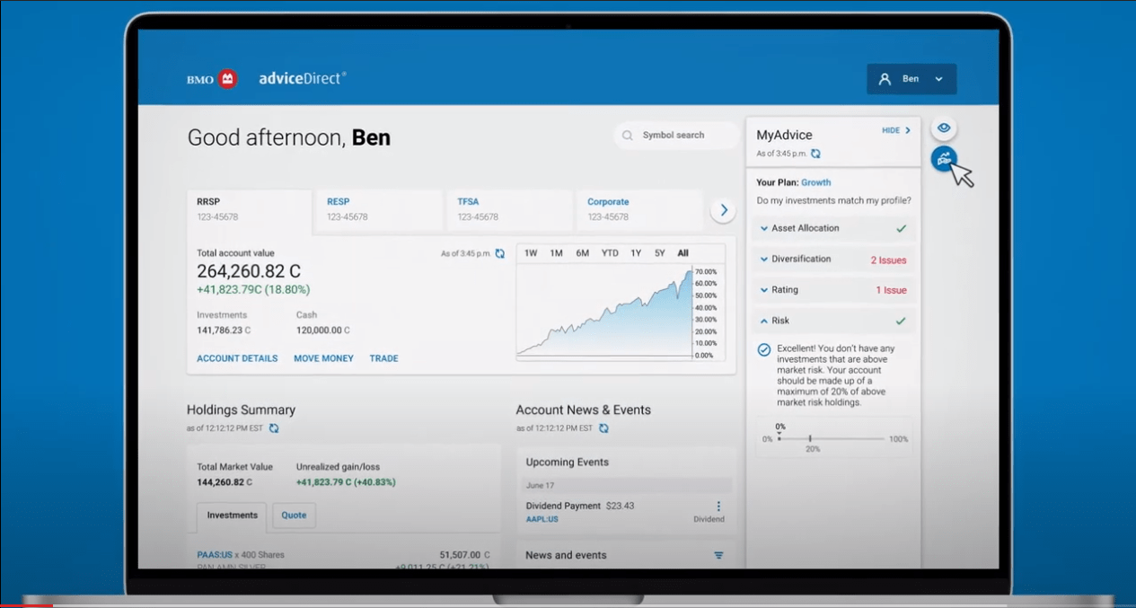 Bmo Advicedirect Dashboard