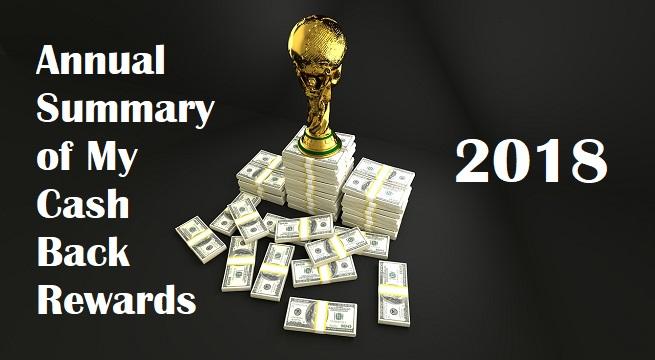 cash back rewards summary 2018