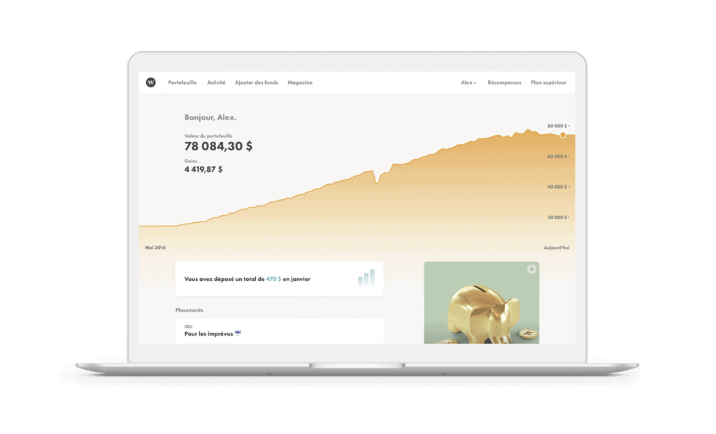 Wealthsimple Dashboard French